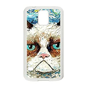 Aggrieved White cat Cell High Quality Phone Case for Samsung Galaxy S5