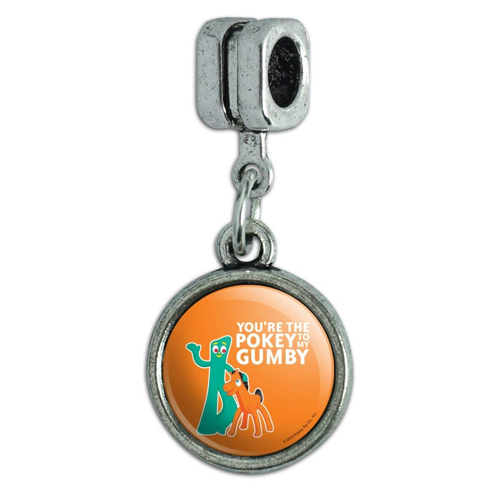 GRAPHICS /& MORE Youre The Pokey to My Gumby Best Friends Italian European Style Bracelet Charm Bead