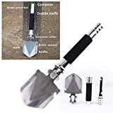 ANTARCTICA Military Portable Folding Shovel Multitool Compact Backpacking Tactical Entrenching Tool for Hunting, Camping(Silver)