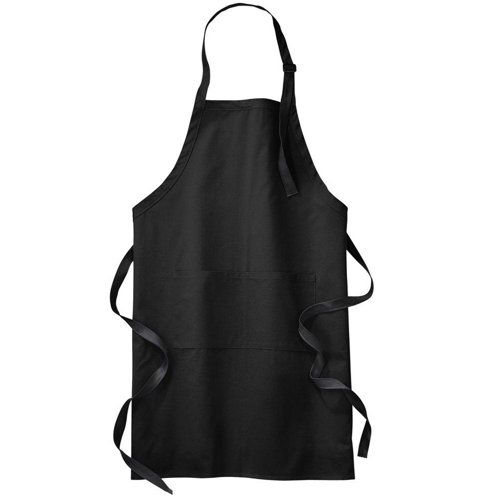 Star and Stripes Apron Chef Black Apron Plain Long Length Pocket Aprons