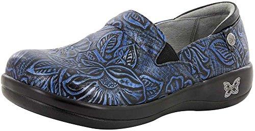 Alegria Keli Women's Slip On 44 M EU Blue Multi-Floral (Alegria Wide Shoes For Women)