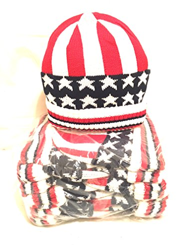 Wholesale Stock Lot Family Pack 12 Knitted USA All American Flag Winter - Flag Store Nyc