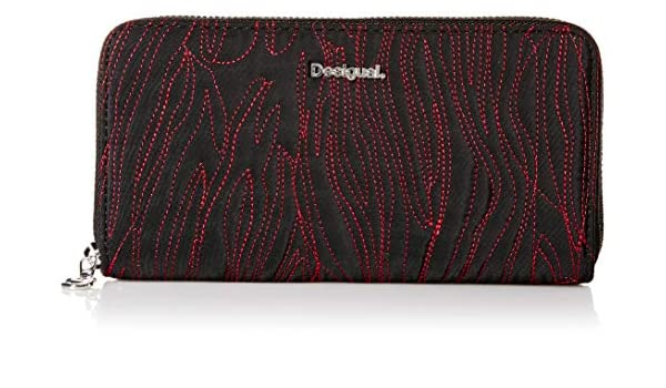 Desigual Animal Stitching Fiona Long Wallet Negro: Amazon.es ...