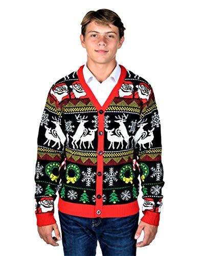 Baby Snowflake Cardigan (KESIS Santa Rein Deer Ugly Christmas Sweater Cardigan SM)