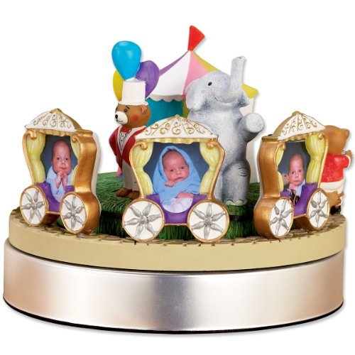 Lawrence Frames Wind Up Musical Circus Train Frame, Holds 3 2 by 3-Inch Photos by Lawrence Frames   B014N6WCUW