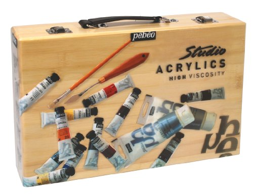 studio-acrylics-bamboo-12-case-assorted-20-milliliter-tubes-medium-and-accessories