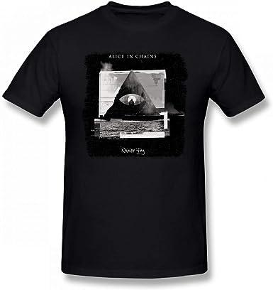 YYdg Algodón Alicia en Cadenas Rainier Fog T Shirts Hombres jóvenes Mangas Cortas Camisetas Suaves Negro: Amazon.es: Ropa y accesorios