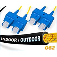 OS2 SC SC In/Outdoor Duplex Fiber Patch Cable 9/125 Singlemode - 250 Meter