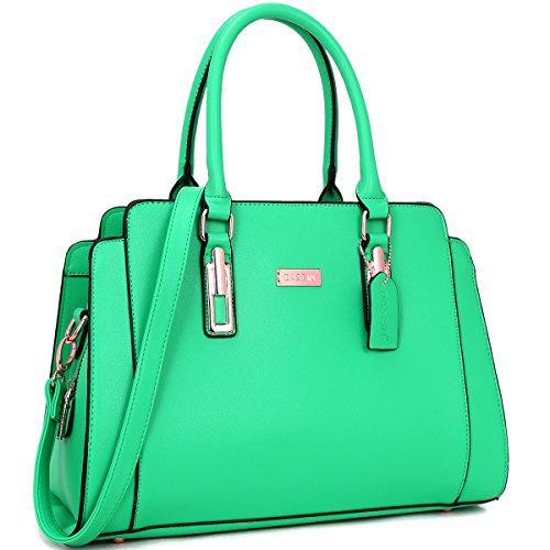 Green Satchel Handbag - 5