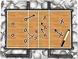 Volleyball Coach's Board Volleyball Court Board 18'' x 24'' Dry Erase Play Board Pro-Tuff Board