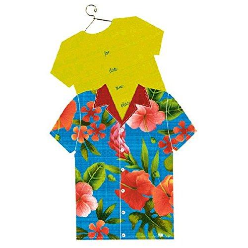 Hawaiian Shirt Invitations - Amscan Hawaiian Shirt Jumbo Summer Party Invitation Card (8 Piece), Multicolor, 6