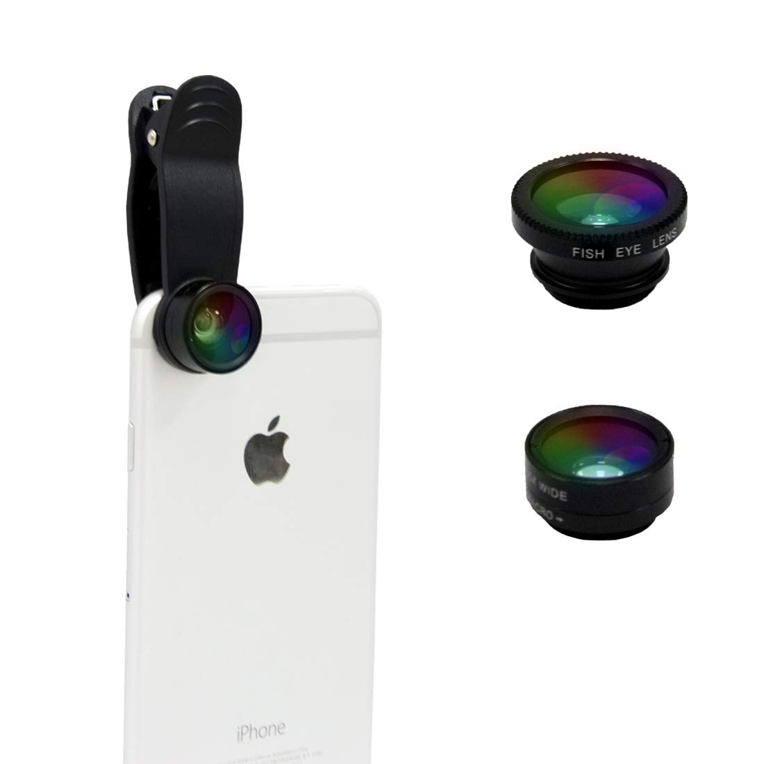 BEGOO Universal Professional Camera Lens Kit for iPhone X/8/7Plus/7/6sPlus/6s, Samsung S8+/S8 Phone Camera Lens Super Wide Angle Lens & Macro Lens