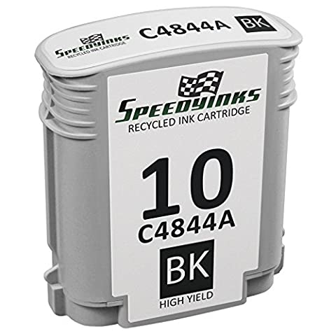 Speedy Inks - Remanufactured Replacement for HP 10 C4844A HY Black Ink Cartridge for use in Business Inkjet 1000 1100 1100d 1100dtn 1200d 1200dn 1200dtn 1200dtwn 2200 2200se 2200xi 2230 2250 (Hp Cartridge 10)