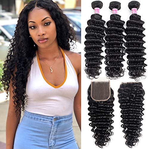 Deep-Wave-Bundles-With-Closure-Double-Weft-Human-Hair-8A-Grade-Brazilian-Hair-Weave-3-Bundles-With-Closure-Natural-Color-16-18-1814