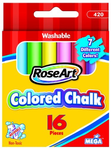RoseArt 16-Piece Colored Chalk, Pack of 12 (420)