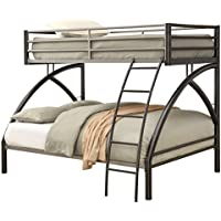 Coaster Home Furnishings 460079 Twin/Full Bunk Bed, Dark Gunmetal