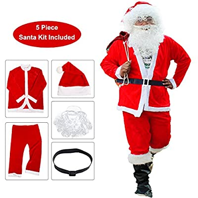 SOMOYA Santa Costume, Santa Claus Costume Santa Suits Christmas Costumes for Men