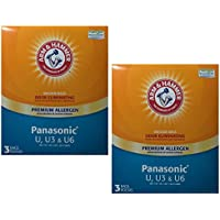 Arm & Hammer Premium Allergen Odor Eliminating Vacuum Bags, Panasonic U, 3 bags (2 pack - 6 total bags)