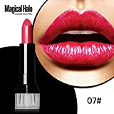 Lisin Magic Halo Lipstick Frosted Moisturizing Lipstick Waterproof Lip Gloss Cosmetics Lip Care Temperature Change Moisturizer Lipstick Lip Balm (5G)