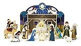 4-Pc Wooden Nativity Set