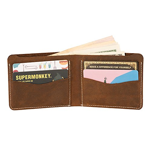 DUEBEL Full-grain Leather Mens Bifold Wallet (M)