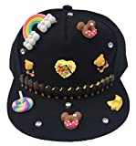 Jixin4you Kids Cute DIY Candy Cotton Summer Hiphop Baseball Hat Sun Cap Red