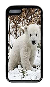 for ipod Touch 4 Case Polar Bear 2 Animal TPU Custom for ipod Touch 4 Case Cover Black