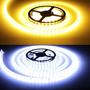 5M LED Strip Light 12V 300 SMD 5630 Warm White/White Waterproof IP68