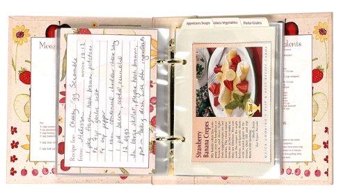 Amazon.com: Meadowsweet Kitchens Recipe Card Cookbook Organizer   Fruit U0027n  Flowers: Recipe Holders: Kitchen U0026 Dining