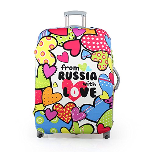 Washable Elastic Luggage Protective Covers Fits 20/24/28 Inch Suitcase Baggage Cover (L(26-28''), From Russia with love) by UNIWALKER