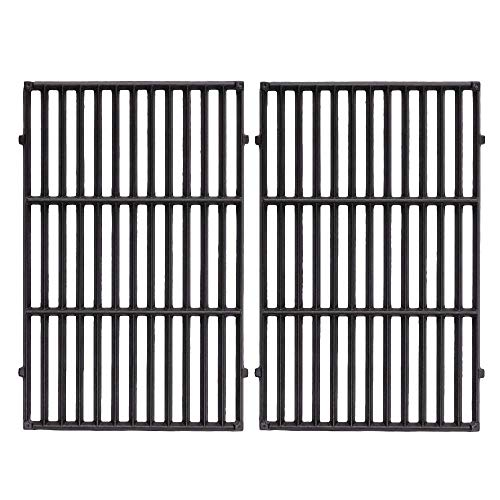 FAS INDUSTRY 7524 BBQ Cooking Grill Grate Replacement, Cast Iron Gas Grid for Weber E-330 Grills 19.5 x 12.9 x 0.5,Set of 2