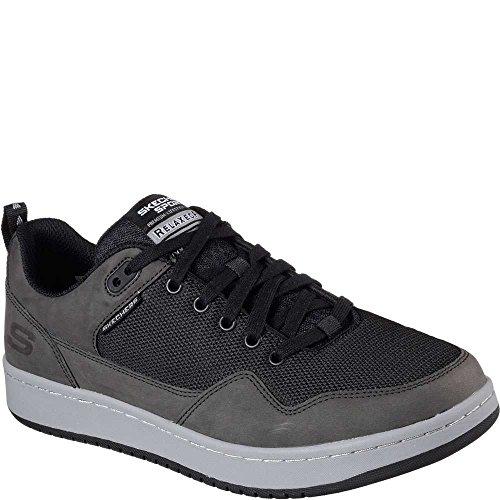 Skechers Heren Schudder Mode Sneakers Zwart / Houtskool D (m) Us Zwart / Houtskool