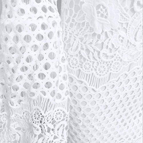 Eleganti Croce partito mini abito sposa Leey B schienale Sera donna corto bianco bodycon pizzo Abito Abiti da sexy Vestiti sera estate Donne SxB6I