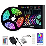 LED Light Strip, L8star Color Changing Rope Lights 16.4ft SMD 5050 RGB Light Strips with Bluetooth Controller Sync to Music Apply for TV, Bedroom, Party and Home Decoration (16.4ft)