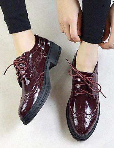 leatherette Toe 5 Shoes Pointed 5 brogue Nero Donna Closed Borgogna Cn38 us7 Wholesale Black Njx Pointed Hug Casual Uk5 Eu38 7Fx8wBq