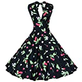 Maggie Tang Women's 1950s Vintage Rockabilly Dress Size XL Color Black Cherry
