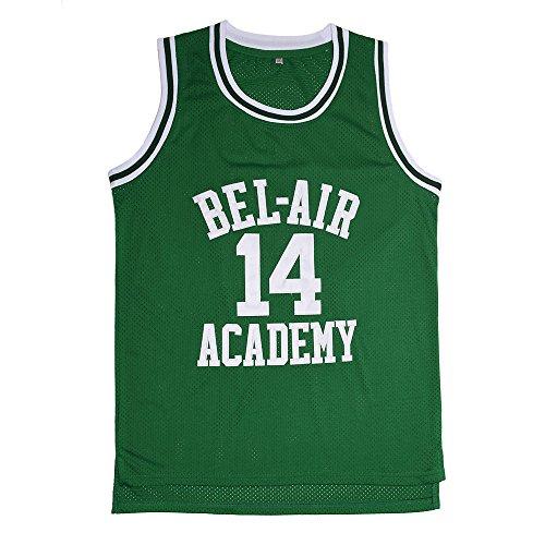 Moonvi Gosay MOOVI GOSAY Mens Jerseys #14 Basketball Jersey Green-S