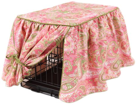 Crate Covers and More Pretty in Pink with Leaf Cording Gathered Tieback, Medium