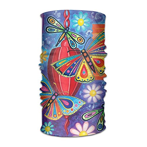 Colorful Butterfly Pattern Headband Bandana Mask Sports Seamless Breathable Hair Band Turban For Workout, Fitness, Running, Cycling, - Head Shops Memphis