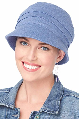 Cardani UPF Adventure Cap 100% Cotton Newsboy Hat with Aloe Lining | UPF 50+ UPF Blue ()