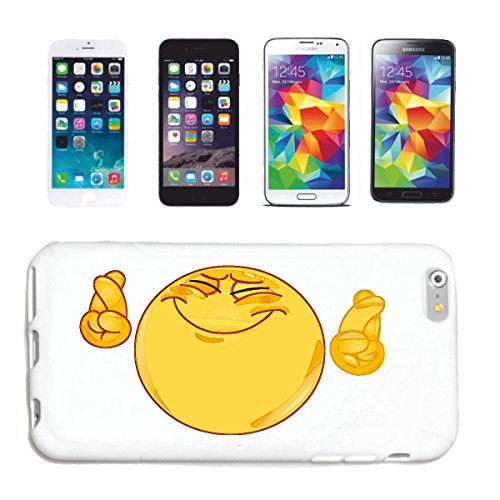 "cas de téléphone iPhone 7+ Plus ""TRÈS JOYEUX FUNNY SMILEY ""sourire EMOTICON APP de SMILEYS SMILIES ANDROID IPHONE EMOTICONS IOS"" Hard Case Cover Téléphone Covers Smart Cover pour Apple iPhone en blanc"