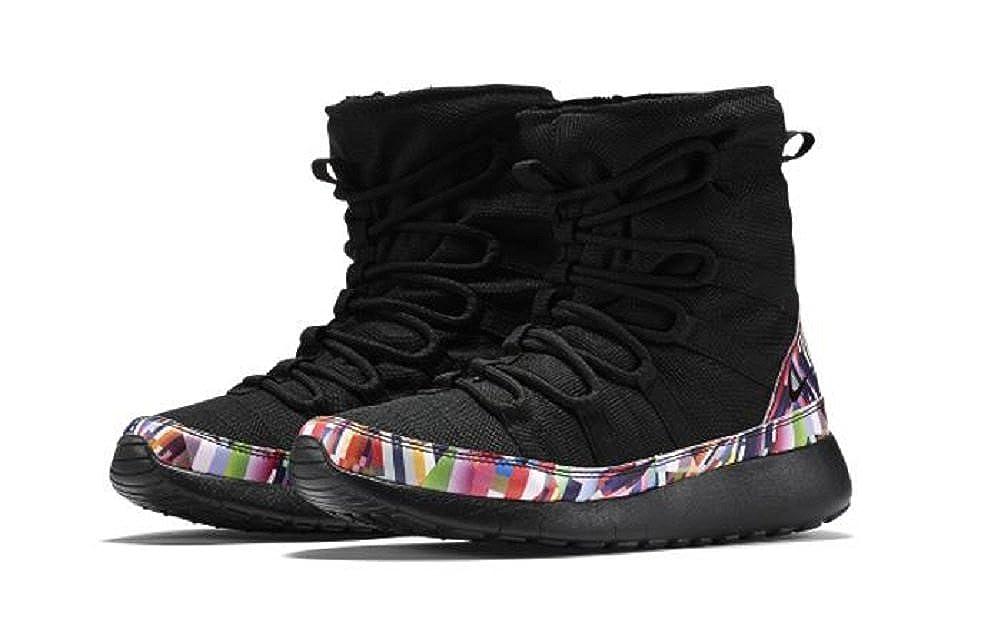 competitive price 9310d 63583 Amazon.com   Nike Roshe One Hi Print Black Black-Hyper Violet-White (PS)  (807745 002)   Boots
