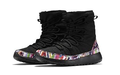 a280ede6e0f8 Nike Roshe One Hi Print Black Black-Hyper Violet-White (PS)