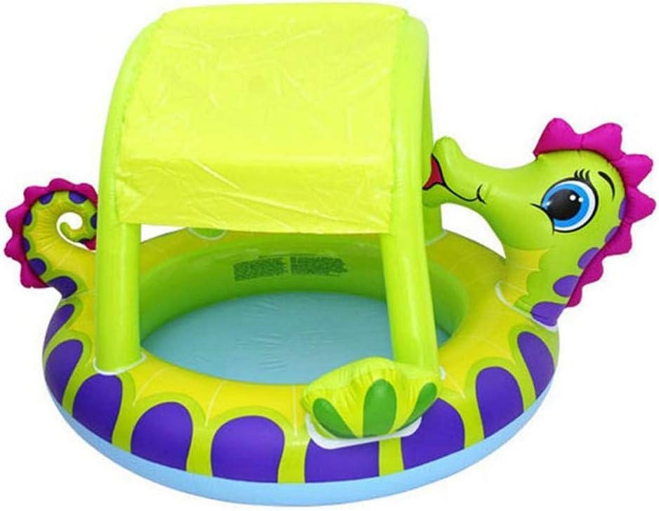 YIWEN Encantador Piscina Infantil Inflable para Bebés, Familia Piscina Inflable con Sombrilla Reduce Los Rayos UV para Jardín Interior Al Aire Libre Inflable Piscina Verde