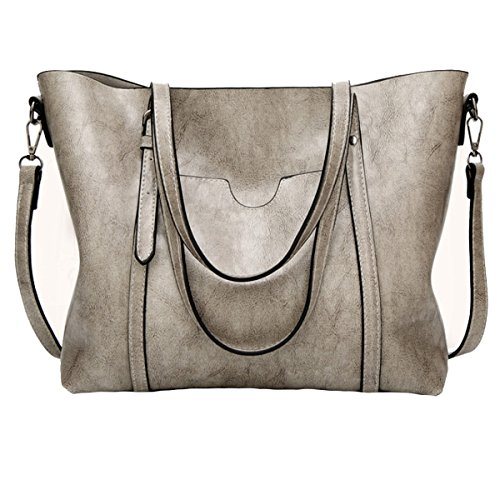 Ocasionales Bolsos Bolso Los Las Fashionoven Bag Monedero Handle De Top Mano Messenger Lady Shoulder Mujeres Lightgrey Satchel wnxU4xOH