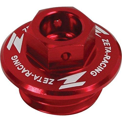 (ZETA Anodized RED Oil Filler Plug YZ YZF 97-13, CR CRF 90-13, TRX450R 04-09)