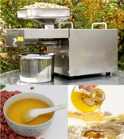 Kohstar Automatic Stainless Steel 110V or 220V Small Home Oil Press Machine Cold Hot Press for Peanut,Coconut ()