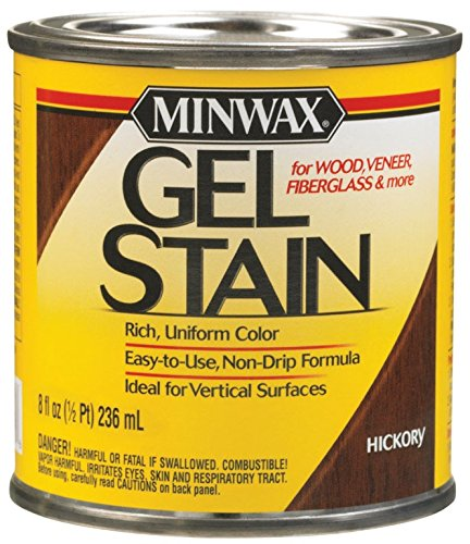 Minwax 26100 Oil-based Gel Stain, 1/2 Pint, Hickory ()