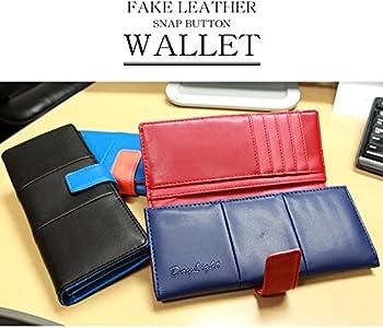 f29e75ba4e1f Amazon | 財布 メンズ レディース スナップボタン 長財布 二つ折り DL ...