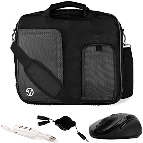 VanGoddy Pindar Black Trim Laptop Bag w/Accessories for HP ChromeBook/Elite x2 / EliteBook/ElitePad / Pavilon/ProBook / 10